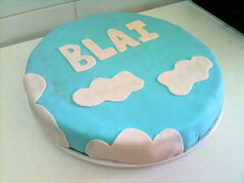 Cobertura de nubes para tarta
