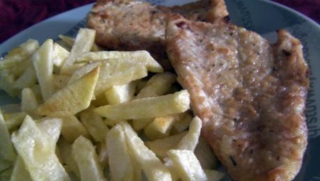 filetes de merluza fritos con eneldo