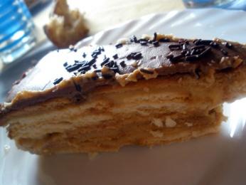 tarta de galletas a la vainilla con cobertura milka