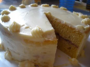 tarta de fresa y buttercream de vainilla