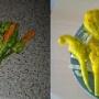 flores de calabacin rellenos de salmón y queso brie  - Paso 1 de la receta