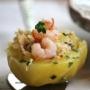 Patatas rellenas de atún y gambita a la antígua - Paso 7 de la receta