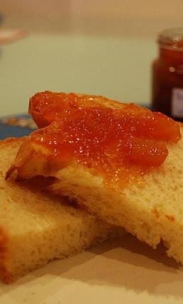 Mermelada de melocotón y manzana