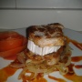Solomillo con queso de cabra sobre lecho de cebolla caramelizada - Paso 3 de la receta