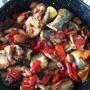 Llampuga con pimientos - Paso 3 de la receta