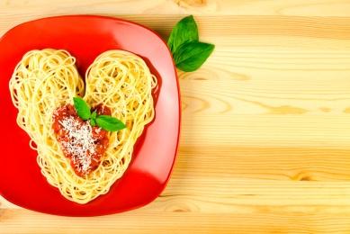 Espaguetis románticos para San Valentín