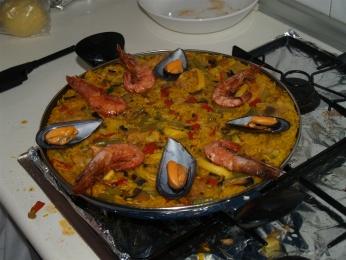 Paella mixta.