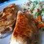Pechuga de pollo rellena acompañada de arroz - Paso 5 de la receta