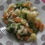 Verduras gratinadas con atún y huevo - Paso 3 de la receta