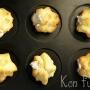 Profiteroles rellenos de roquefort con dátiles y nueces - Paso 1 de la receta