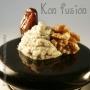 Profiteroles rellenos de roquefort con dátiles y nueces - Paso 2 de la receta