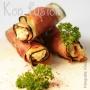 Rollitos de berenjena con jamón serrano rellenos de requesón y parmesano - Paso 2 de la receta