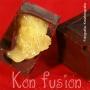 Bombones de chocolate con pimienta de jamaica rellenos de crema de mango y aroma de cardamomo - Paso 1 de la receta