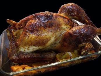 Pollo capón relleno