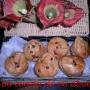 Muffins de arándanos rojos y pepitas de chocolate - Paso 1 de la receta