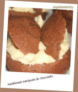 MAGDALENAS MARIPOSA DE CHOCOLATE: