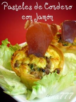Pasteles de Cordero y Jamón