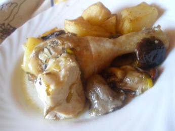 Pollo asado con patatas Don Benito