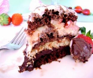 Bizcocho Chocorango (chocolate + fresa)