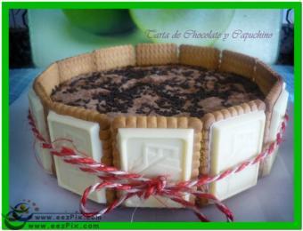 tarta de  chocolate y capuccino