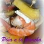 Piña a la Plancha, Gambas y Brie - Paso 1 de la receta