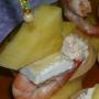 Piña a la Plancha, Gambas y Brie - Paso 2 de la receta