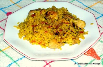 Arroz con pollo (Paella sencilla)
