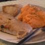 Atún a la plancha con puré de salmorejo - Paso 3 de la receta
