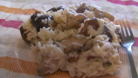 risotto shiitake a los tres quesos