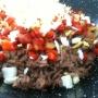 Pasta (Espagueti) con carne, huevo y verduras - Paso 2 de la receta