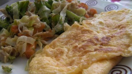 tortilla francesa con verduras