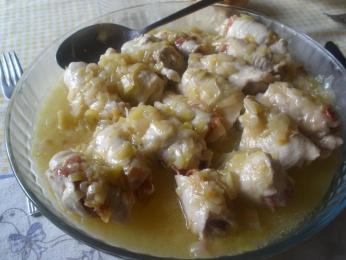 Rollitos de pollo en salsa