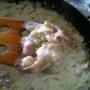 Pasta con gambas y nata - Paso 3 de la receta