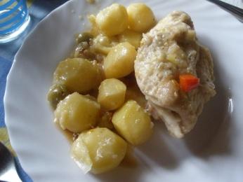 Pechugas de pollo mechadas con patatitas