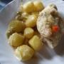 Pechugas de pollo mechadas con patatitas - Paso 7 de la receta